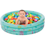 Nomeni Inflatable Ocean Biological Swimming Pool Round Garden Party Outdoor Gift For K Green