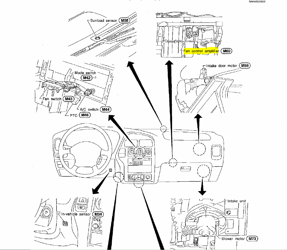 I have a 1997 pathfinder le,heater blower will not shut ...