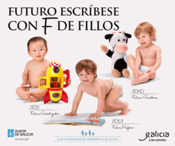 Campaña de publicidade da Xunta a prol da natalidade