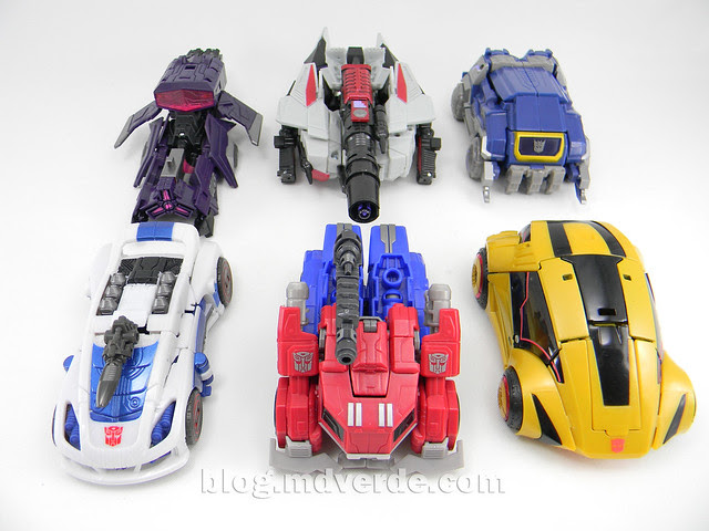 Transformers Shockwave Deluxe - Generations FoC - modo alterno vs otros FoC/WfC