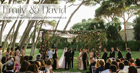 A Mira Zwillinger bride for a Destination Jewish Wedding from Marbella, Spain