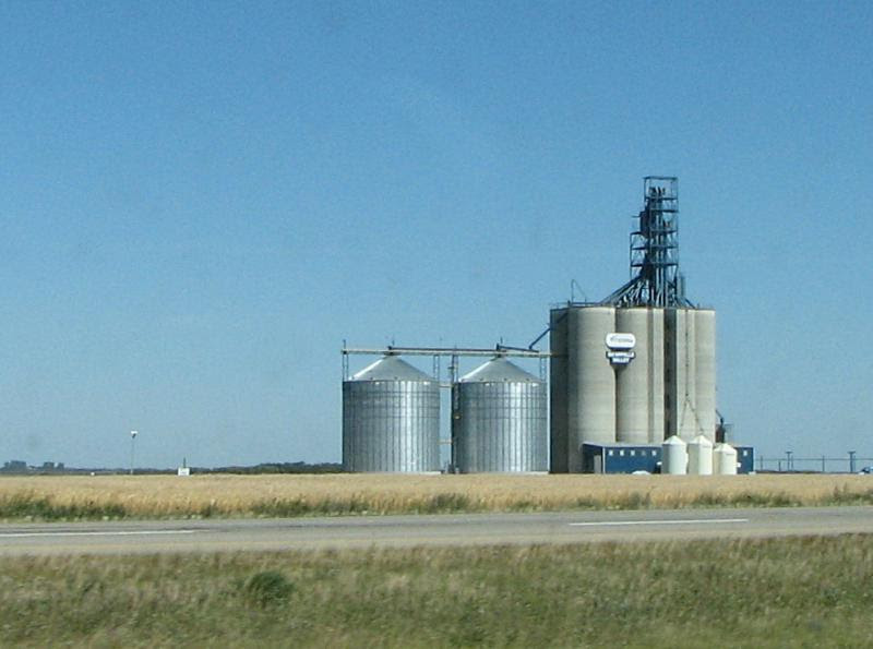 Qu'Appelle Valley grain elevator in Grenfell Saskatchewan