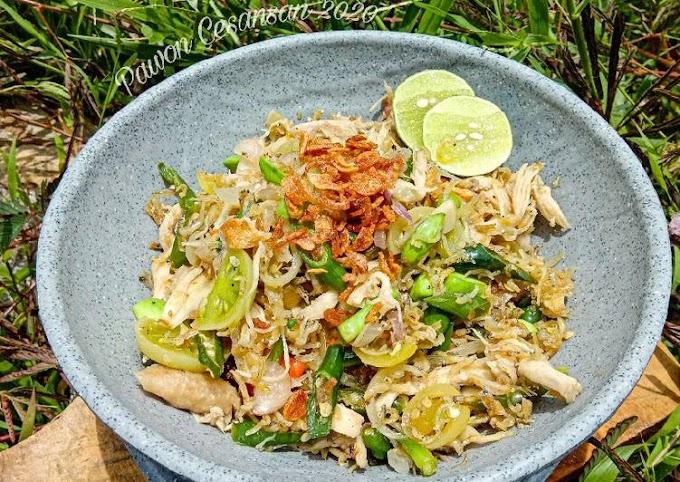 Resep Membuat Oseng Mercon Teri Nasi Mix Ayam Suir Paling Mudah