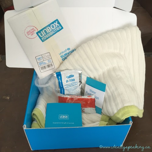 #UnBoxPossibilities with a Unicef Survival Kit - Ideally speaking...