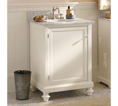 Classic Turned-Leg Single Mini Sink Console   Pottery Barn