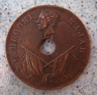 old coin of Sarawak (1894)