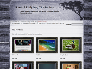 Rustic Free WordPress Theme