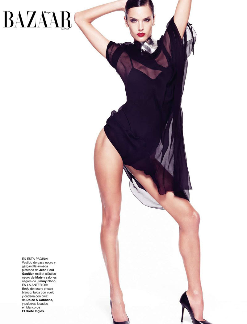 alessandra ambrosio4 Alessandra Ambrosio for <em>Harpers Bazaar Spain</em> February 2011 by Nico