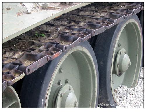 Russian T34 tank tracks