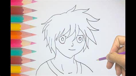 draw  anime boy  kids cool anime drawings