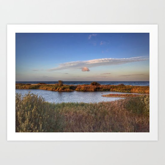 Autumn comes to the beach Art Print by Metamorview | Society6