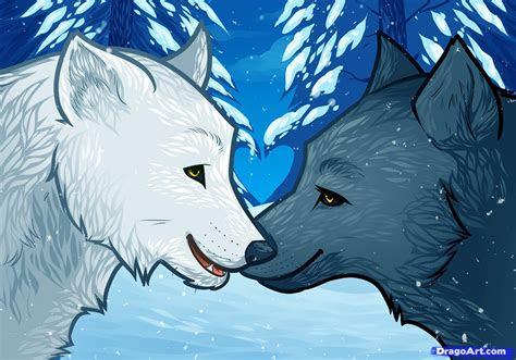 draw wolf love wolf love step  step forest