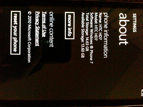 T-Mobile HD7 / WP7 : How to Reset a Windows 7 Phone to ...