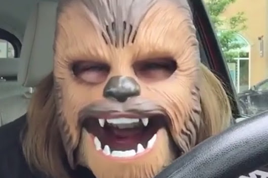 This Woman Hysterically Laughing In A Chewbacca Mask Is The Best Thing You'll See All Day
