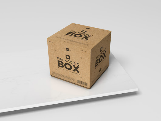 Free PSD Packaging Box Mockup For Presentation 2019 - Free Mockup Zone