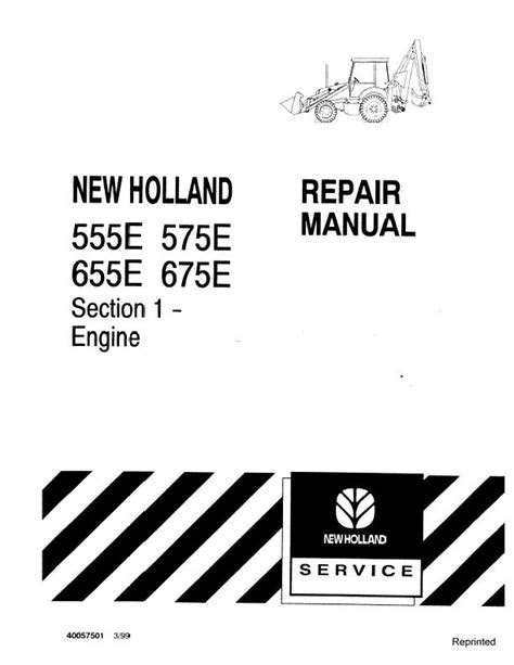 New Holland 555E 575E 655E 675E Engine Workshop Service