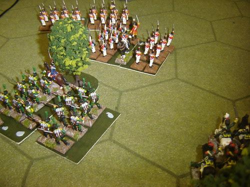 British square repulses French light cavalry