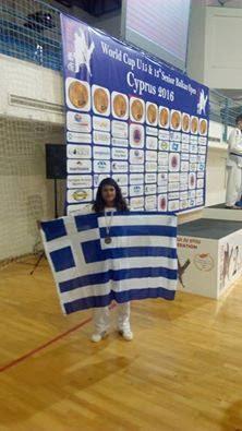 Την 3η θέση στο παγκόσμιο πρωτάθλημα Ju Jitsu κατέκτησε η Μαρία Ρέγκλη απο τη Ρόδο