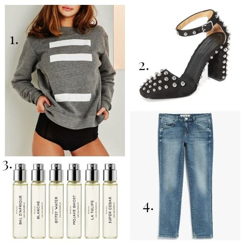 Negative Underwear Sweatshirt - Alexander Wang Pumps - Byredo Fragrances - AMO Jeans