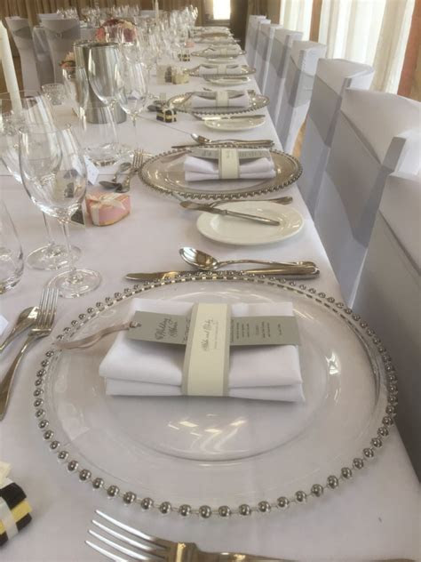 SILVER BEADED GLASS PLATE CHARGER   Wedding Day Hire