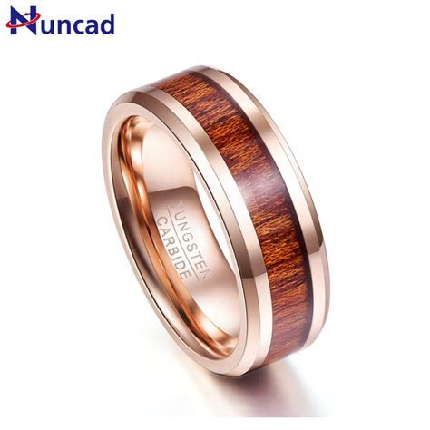 Nuncad New arrival Classic Mens Tungsten Rings 8mm Wedding