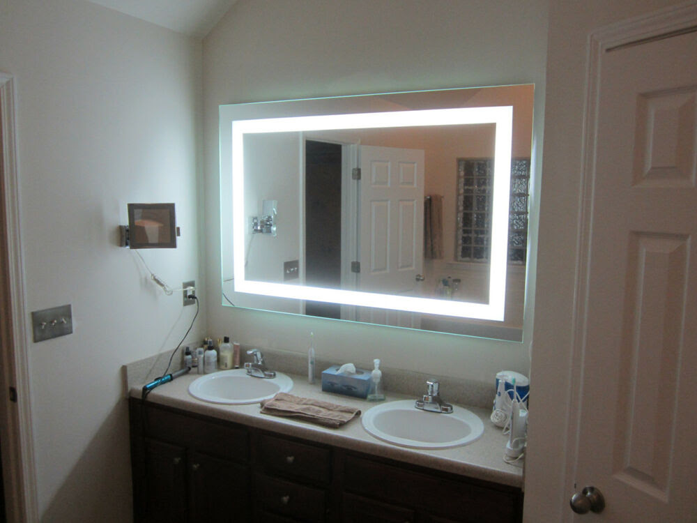 """Lighted Vanity mirrors, make-up, wall mounted 60"""" wide x ..."""