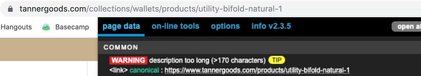 URL In Address Bar Is Different Than Canonical Link