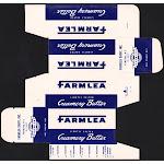 Vintage box FARMLEA CREAMERY BUTTER Farmlea Dairy Yonkers New York unused n-mint