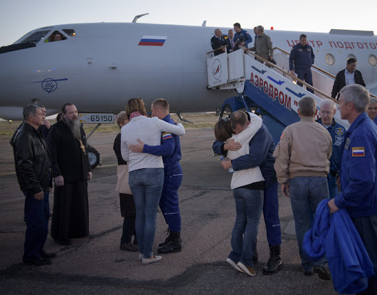 Expedition 57 crew return to Baikonur after an aborted launch