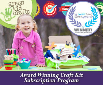 Enter to win Green Kid Crafts' Award Winning Craft Kit Subscription. Ends 5/12.