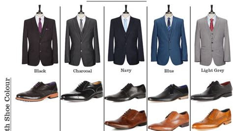 match  suit  shoes perfectly   cheat sheet