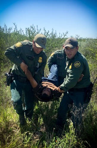 Laredo Sector agents rescue an illegal immigrant who became lost after being abandoned by human smugglers. (Photo: U.S. Border Patrol/Laredo Sector)