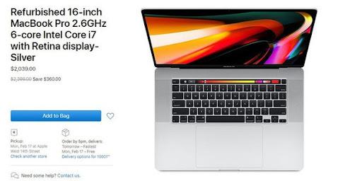 MacBook Pro 16 inch mới nhất đã có hàng 'tân trang', giá bán giảm ngót nghét 10 triệu