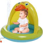 Baby Pool, Duckling Pool With Canopy, Spray Pool Of 40In, Water Sprinkler