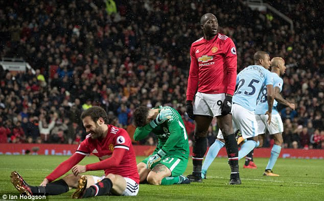 Manchester United played well but they fell well short of a team operating on their own level