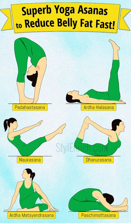 Yoga Asanas to Reduce Belly Fat Fast !