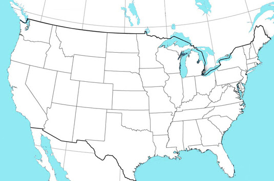 Usa Map Without State Names