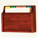 Wooden Mallet CH15-1MH Single - Square Bottom Letter Size File Holder in Mahogany