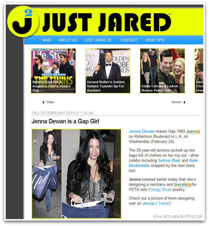 Jenna Dewan-Tatum Shopping at The Gap on JustJared.com