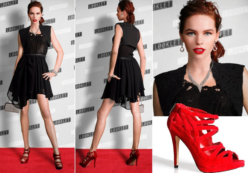 Resultado de imagem para sapato colorido cpm vestido preto