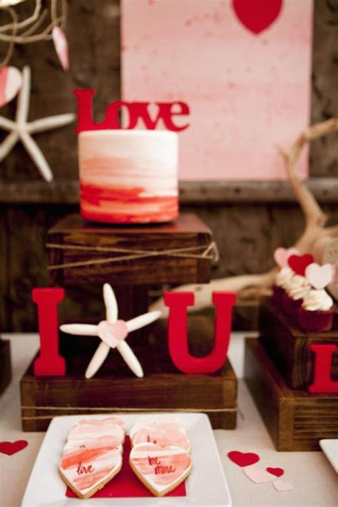 Kara's Party Ideas Love at the Beach Valentine Engagement