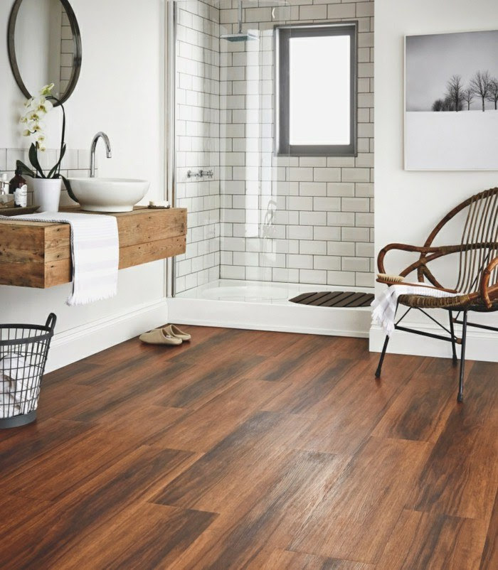 Amazing Bathrooms With Wood-Like Tile - Preview Chicago