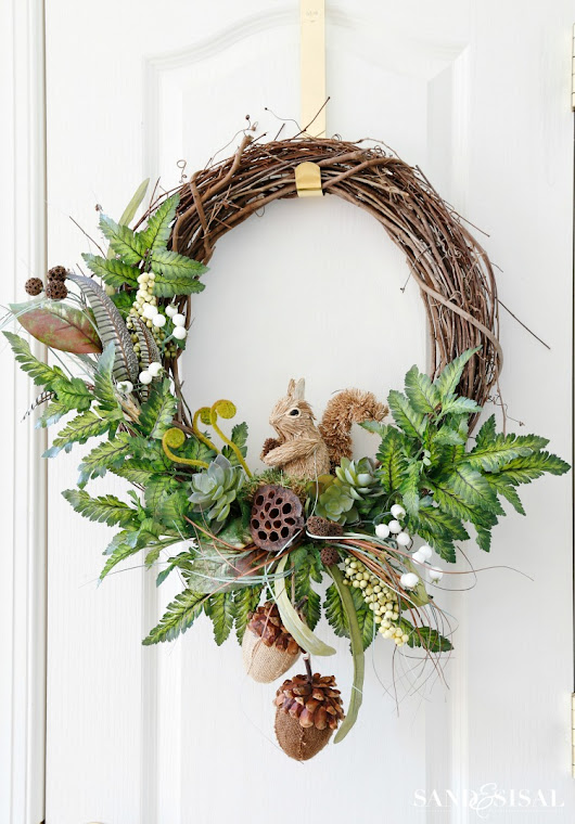 DIY Fall Woodland Wreath - Sand and Sisal