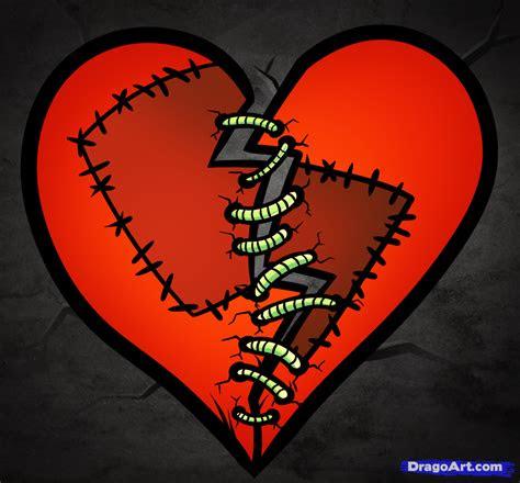 anime heart drawings broken heart tattoo drawings