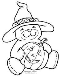 halloween teddy bear coloring pages | dulemba: Coloring Page Tuesdays - Halloween Bear!