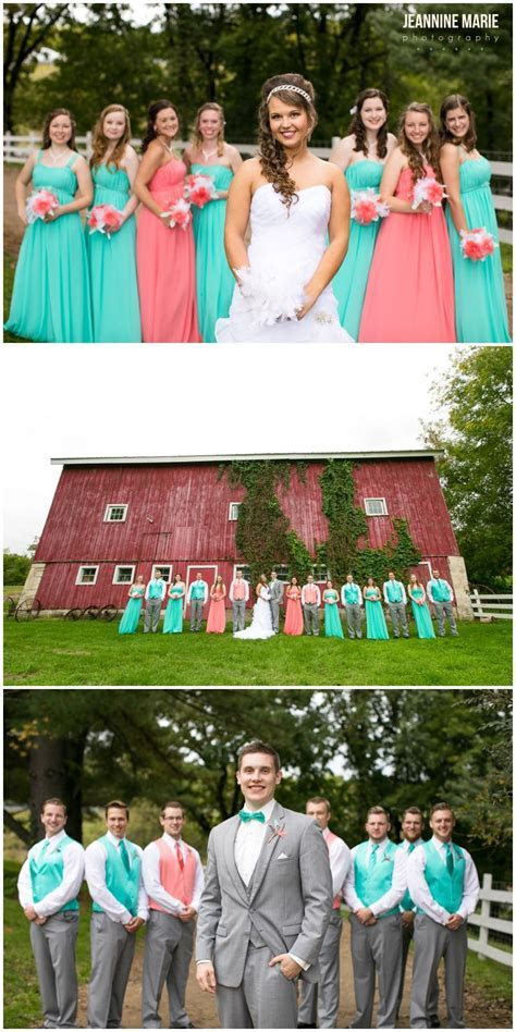 Hope Glen Farm Coral & Teal Wedding, Saint Paul Wedding