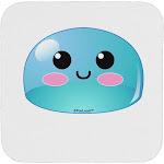 Cute RPG Slime - Blue Coaster by TooLoud