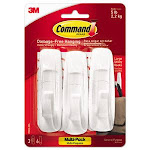 Command General Purpose Hooks, Large, 3 Hooks & 6 Strips (MMM170033ES)