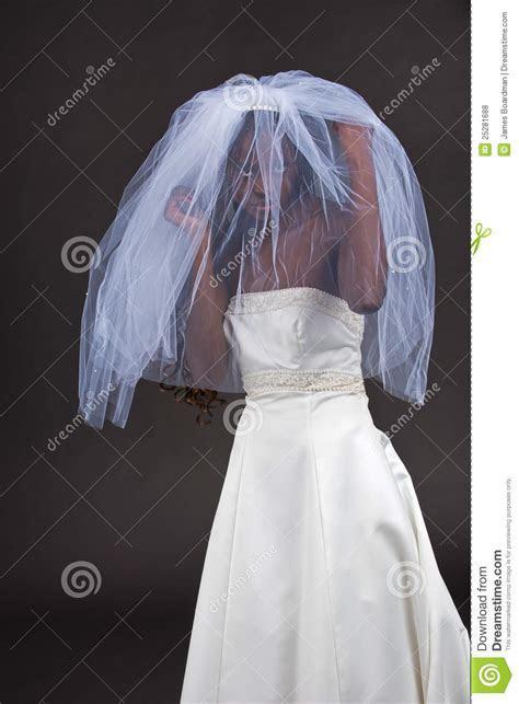 Beautiful Black Woman In A Wedding Dress Stock Photo