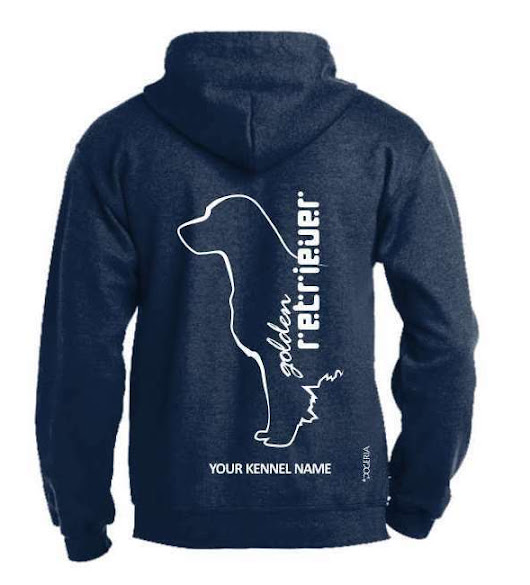 Details about Golden Retriever Dog Breed Hoodie, Pullover style, Exclusive Dogeria design